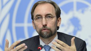 UN High Commissioner for Human Rights, Zeid Raad al-Hussein of Jordan speaks on the UN Human Rights Office report on Sri Lanka during a press conference at the European headquarters of the United Nations (AP Photo)