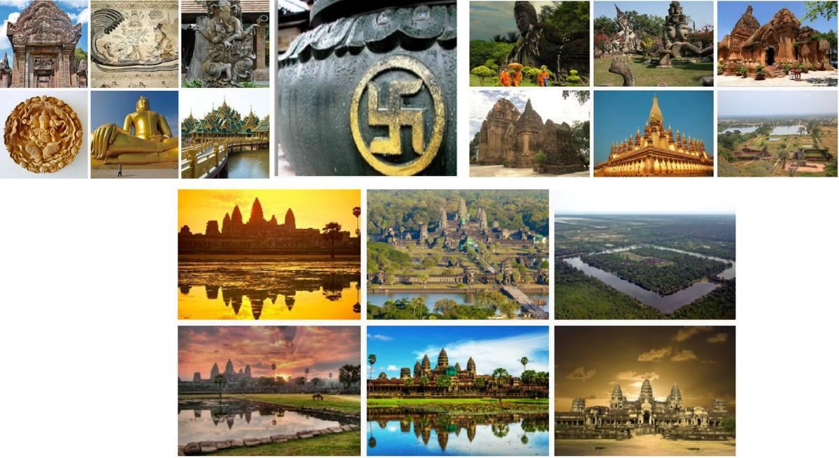 कंबोडिया,लाओस,थाईलैंड,ब्रम्हदेश(बर्मा),वियतनाम